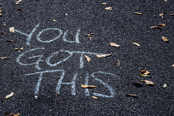 you got this graffiti on road