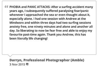 panic attack testimonial