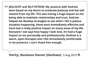 screenshot of self-esteem therapy testimonial